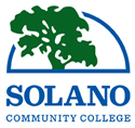 Solano Community College Logo, Tree breaking out of half dome.