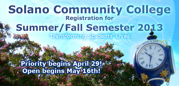 SCC Summer Fall Classes 2013