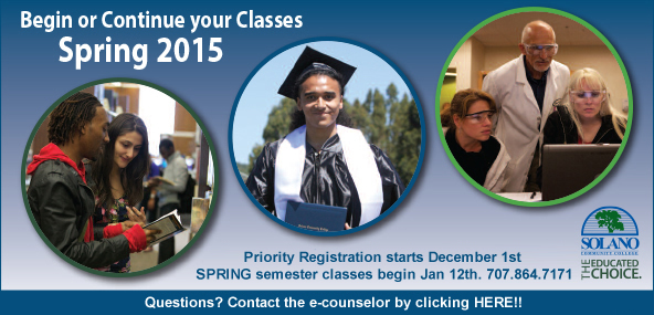 Contact the e-counselor by clicking here, www.solano.edu/counseling/ecounseling.php