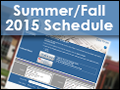 Summer/Fall 2015 Schedule of Classes