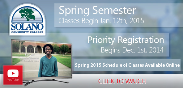 Spring semester begins January 12th. Click to see our TV Commercial