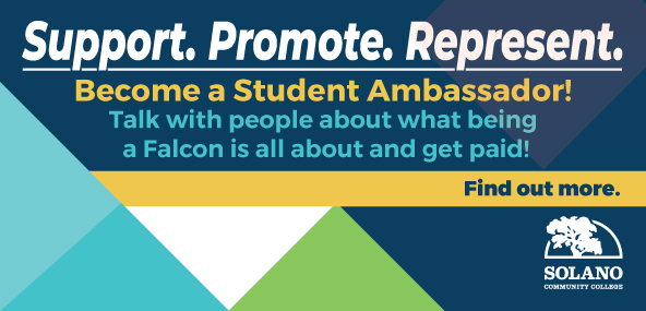 Support. Promote. Represent. Become a Student Ambassador! Talk with people about what being a Falcon is all about and get paid! Find out more. Apply by June 28.