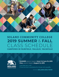 Final Exam Schedule Fairfield University Fall 2019 Solano Community College