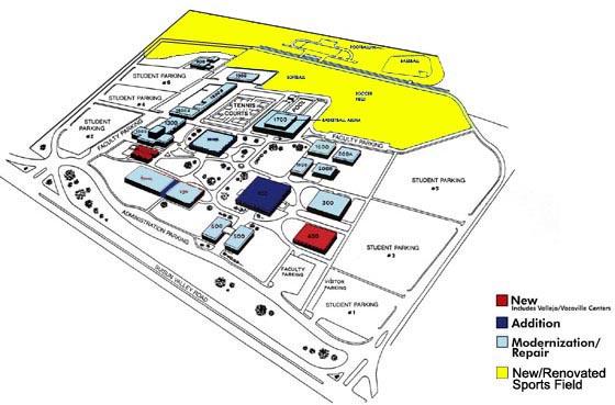 solano college campus map Solano Community College